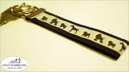 Schlüsselanhänger Webband Hund Mod.10