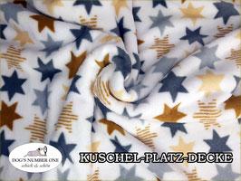 """Kuschel-Platz-Decke """"Modell Sterne"""""""