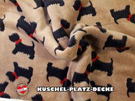"""Kuschel-Platz-Decke """"Modell Hündchen"""""""
