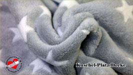"""Kuschel-Platz-Decke """"Modell Star grau"""""""