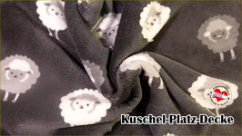 "Kuschel-Platz-Decke ""Modell Schäfchen grau"""