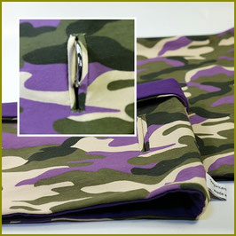 "Loop ""Modell Military lila"" mit Halsbandöffnung"