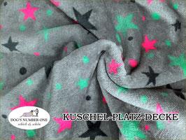 """Kuschel-Platz-Decke """"Modell Sternchen"""""""