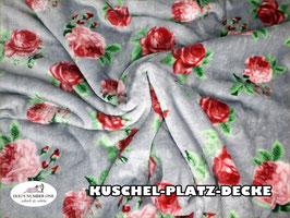 """Kuschel-Platz-Decke """"Modell Rose"""""""