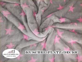 """Kuschel-Platz-Decke """"Modell Stars rosa"""""""