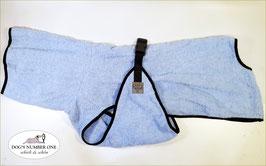 Hunde-Bademantel blaugrau