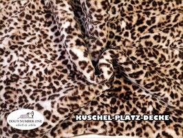 """Kuschel-Platz-Decke """"Modell Leopard"""""""