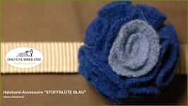 """Halsband-Accessoire """"Stoffblüte"""" blau"""