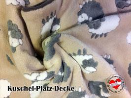 """Kuschel-Platz-Decke """"Modell Schäfchen"""""""