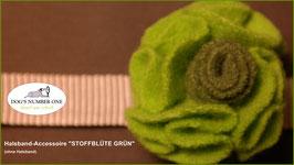 """Halsband-Accessoire """"Stoffblüte"""" grün"""