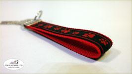 Schlüsselanhänger Webband Hund