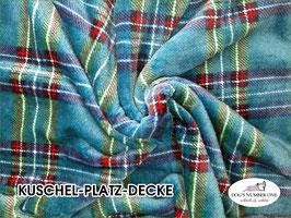 """Kuschel-Platz-Decke """"Modell Schottenkaro blau"""""""