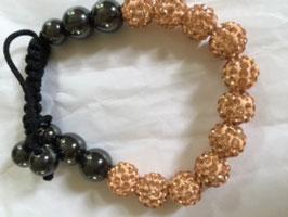 Armband - schwarz-gold