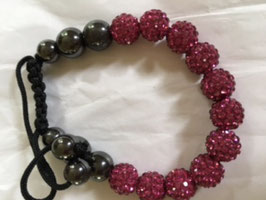 Armband - schwarz-cherry