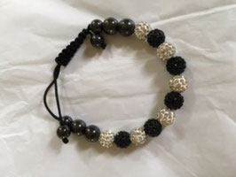 Armband - schwarz-silber