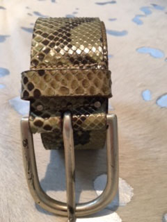 Designer-Gürtel - Schlangenprägung
