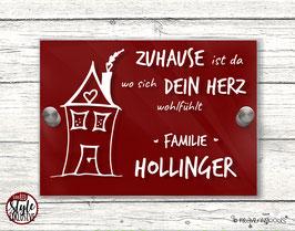 """""""HERZensHÄUSCHEN"""" Türschild RED Style"""