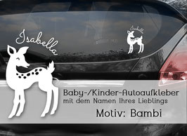"""""""BAMBI"""" Autoaufkleber Sticker für Baby Kind"""
