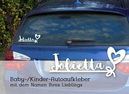 HERZ, Autoaufkleber Sticker für Baby Kind
