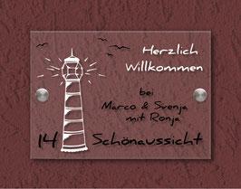 """""""traumBlinky Leuchtturm""""  Türschild HAUSNUMMER"""