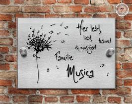 """Musica Pustica"" Türschild"