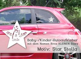 """""""Stella"""" Autoaufkleber Sticker für Baby Kind"""