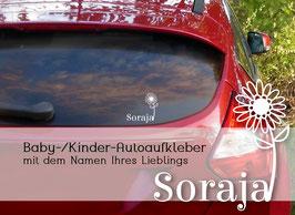 """""""SONNENBLUME"""" Autoaufkleber Sticker für Baby Kind"""