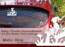 """""""ALICE"""" Autoaufkleber Sticker für Baby Kind"""