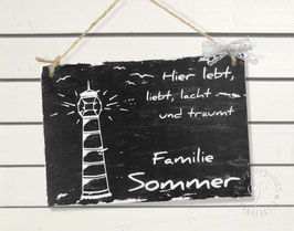 """traumBlinky Leuchtturm"" HOLZ Türschild Shabby Chic"