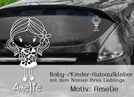 """""""Amelie"""" Autoaufkleber Sticker für Baby Kind"""