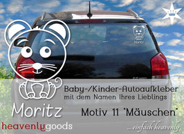 """""""Mäuschen"""" - Autoaufkleber"""