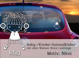 """""""Nina"""" Autoaufkleber Sticker für Baby Kind"""