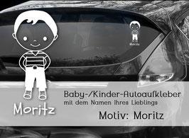 """""""Moritz"""" Autoaufkleber Sticker für Baby Kind"""