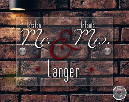 """""""Mr & Mrs lovely""""  Türschild"""