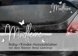 """""""SCHMETTERLING"""" Autoaufkleber Sticker für Baby Kind"""