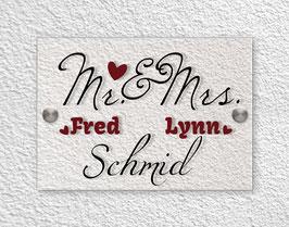 """""""Mr & Mrs red"""" Türschild"""