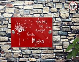 "RED Style ""Musica Pustica"" Türschild"