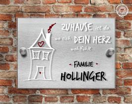 """HERZensHÄUSCHEN"" Türschild"