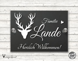 """GREY Style LANDHAUS in LOVE with modernDESIGN """"HirschLIEBE"""" Türschild"""