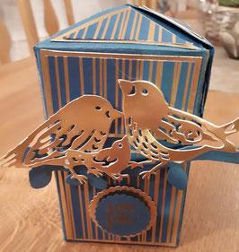 """Boîte impossible """"oiseaux d'or"""""""