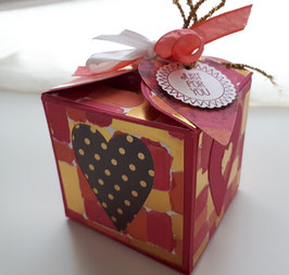 "Cadeau de table  "" BOX lot de coeurs"""