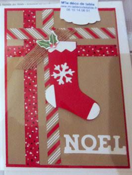 "Carte ""Botte de Noël"""