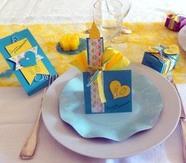 Anniversaire turquoise et jaune