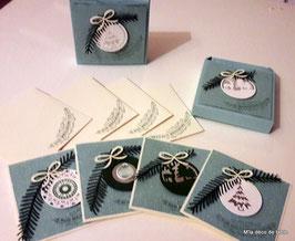 BOX 4 cartes  Joyeuses Fêtes
