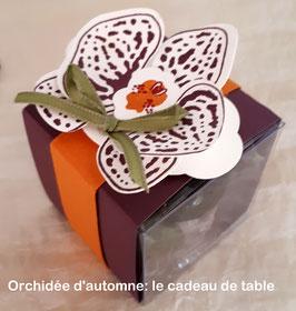 """cadeau de table """"Orchidée d'automne"""""""