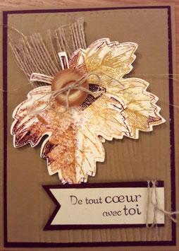 """AUTOMNE : Cartes  """"feuillage d'automne"""""""