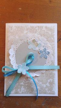 "Invitation ""lin turquoise"""