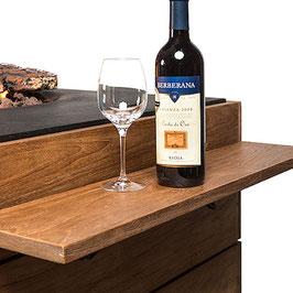 Zwei Seitentische für den Feuertisch Angolo/Piazza