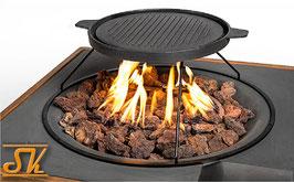 Grillaufsatz und BBQ für Feuertische