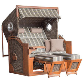 Strandkorb Seaside XXL antique brown 440